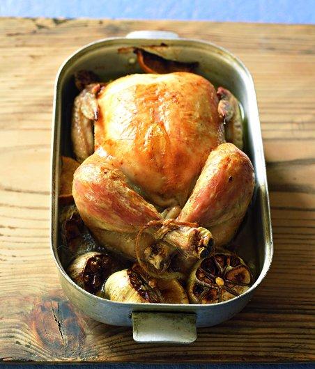 Kuře na tymiánu a česneku