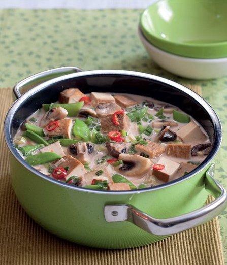 Kokosové karí s tofu