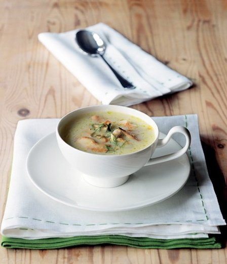 Květáková polévka s kuřetem