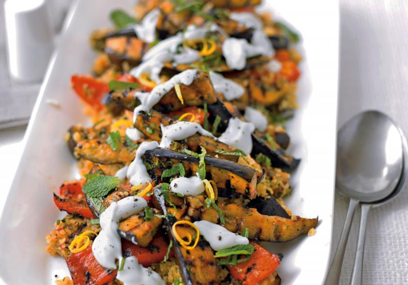 Grilovaná zelenina a bulgur