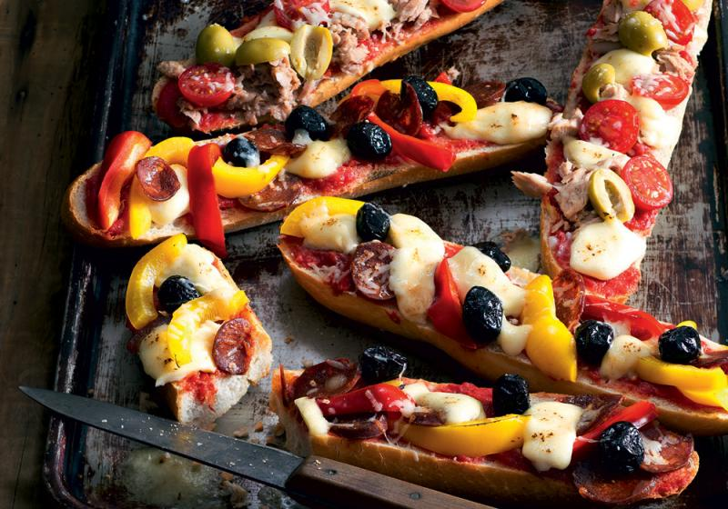 Pizza bagety