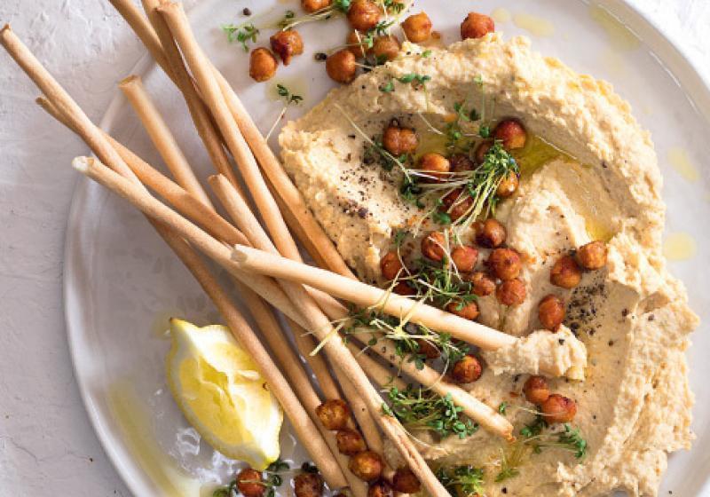 Hummus s křupavou cizrnou