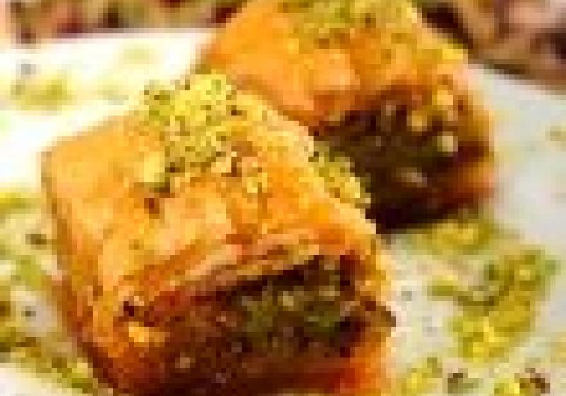 Zlaté krevety s ochuceným kuskusem