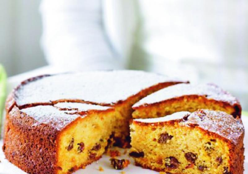 Mandlovo-rozinkový koláč se sherry