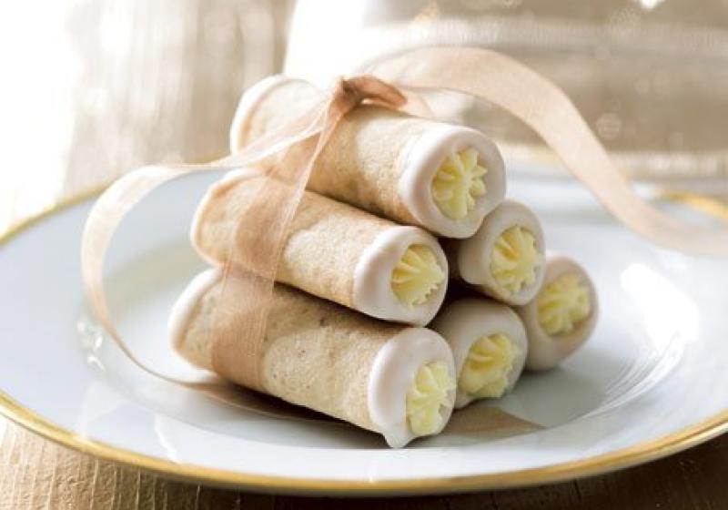 Trubičky s bílou čokoládou