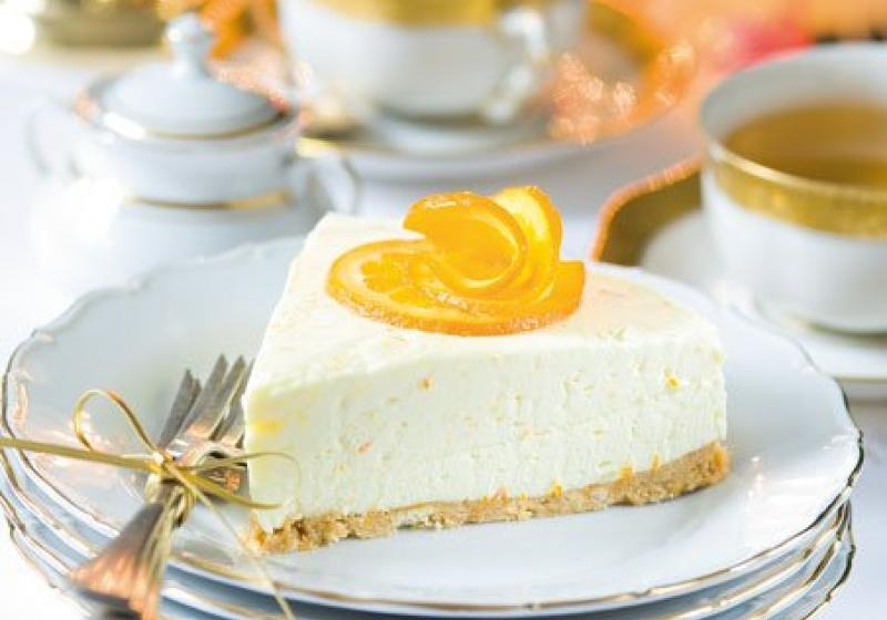 Nepečený krémový dort s pomeranči