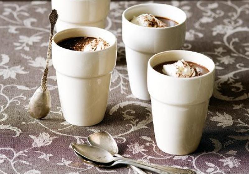 Čokoládovo-kávové šálky