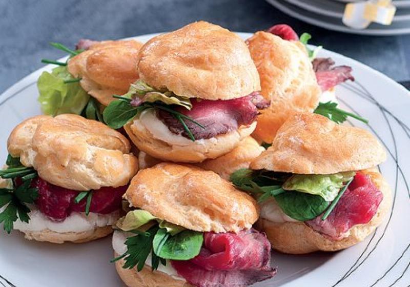 Miniburgery s rostbífem