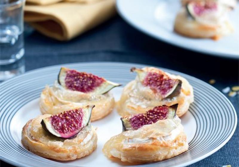 Koláčky s fíky & kozím sýrem
