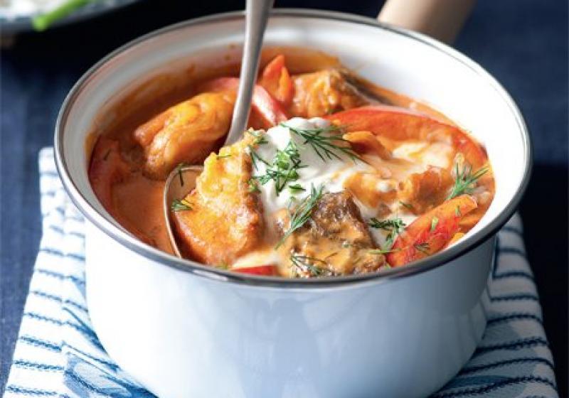 Maďarský rybí guláš