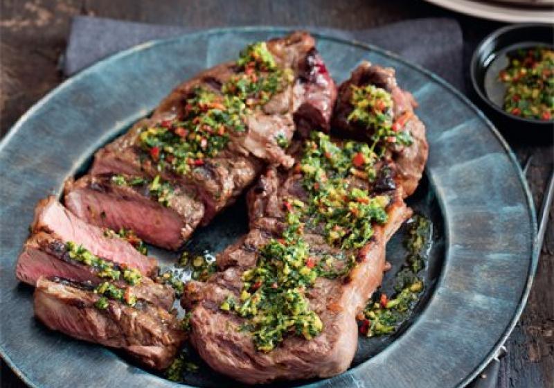 Steak s argentinským pestem