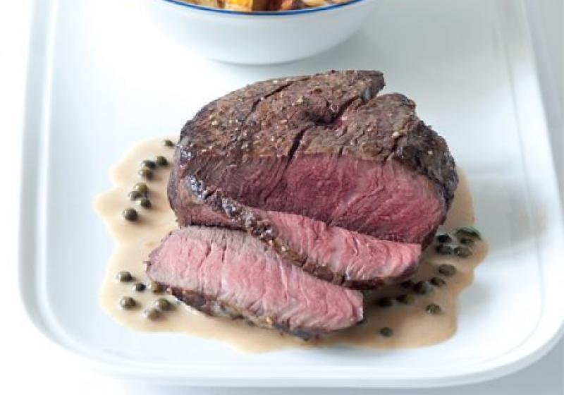 Biftek s pepřovou omáčkou