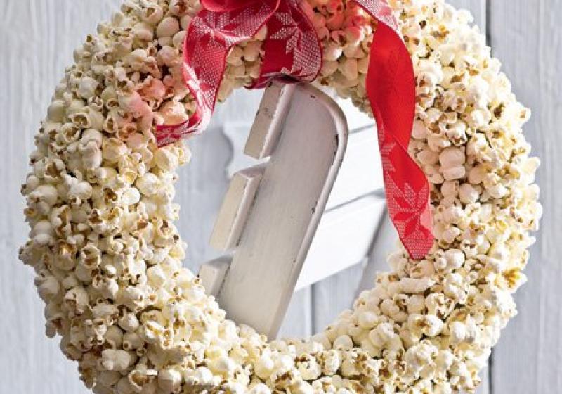 Popcornový věnec