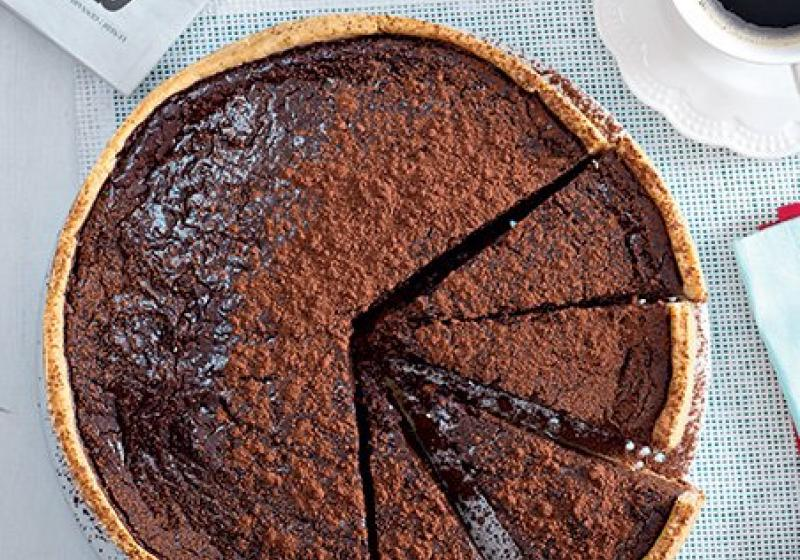 Čokoládový dort se sušenými švestkami (torta nera)