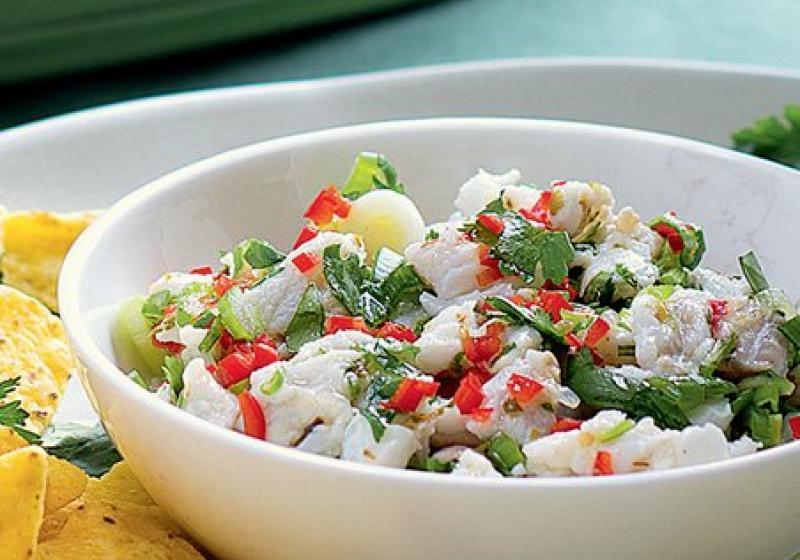 Mexický rybí salát