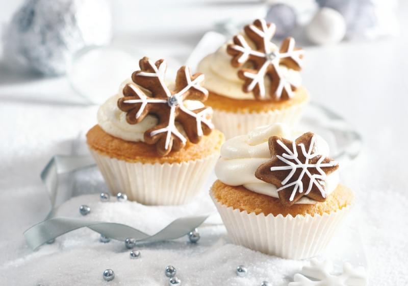 Vánoční cupcaky s medovými perníčky