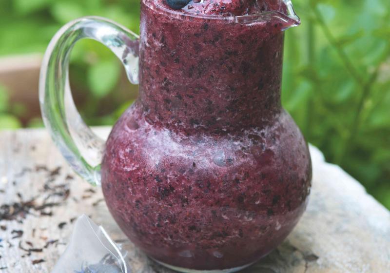 Borůvková tříšť s čajem Earl Grey