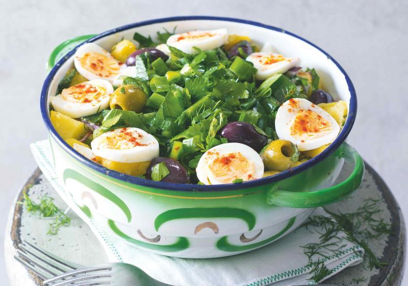 Bramborový salát po turecku s vejci