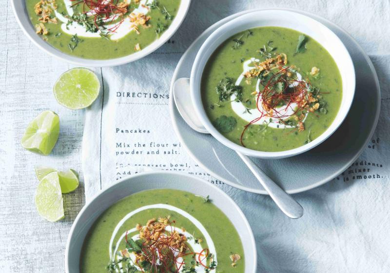Brokolicová polévka s kokosovým mlékem
