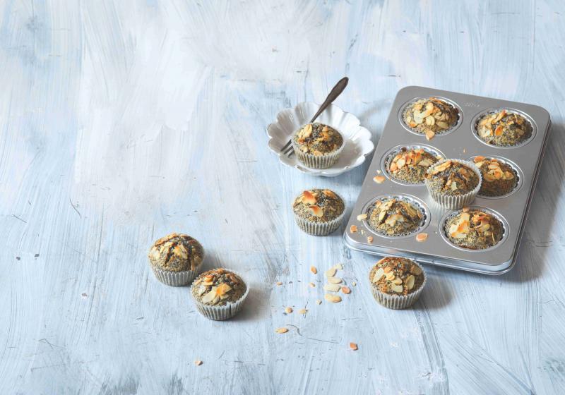 Citronové muffiny s mákem a mandlemi