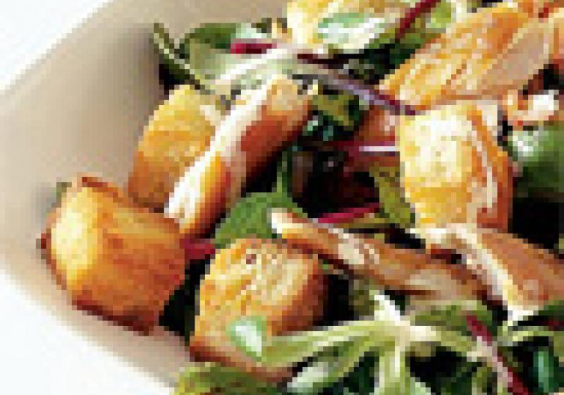 Mikrovlnné krutony do polévek a salátů