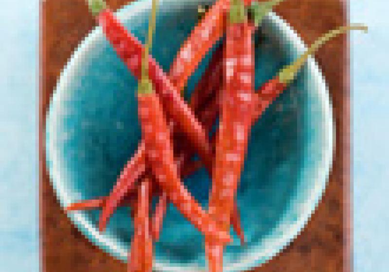 Očištění a krájení chilli
