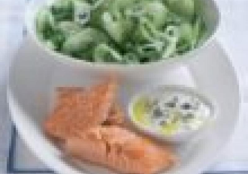 Dnes k večeři: losos se salátem
