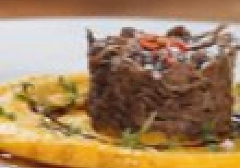 Hovězí konfit s dýňovým pyré