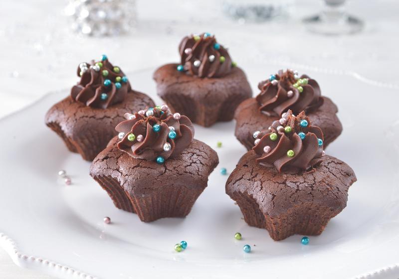 Čokoládové dortíky bez mouky