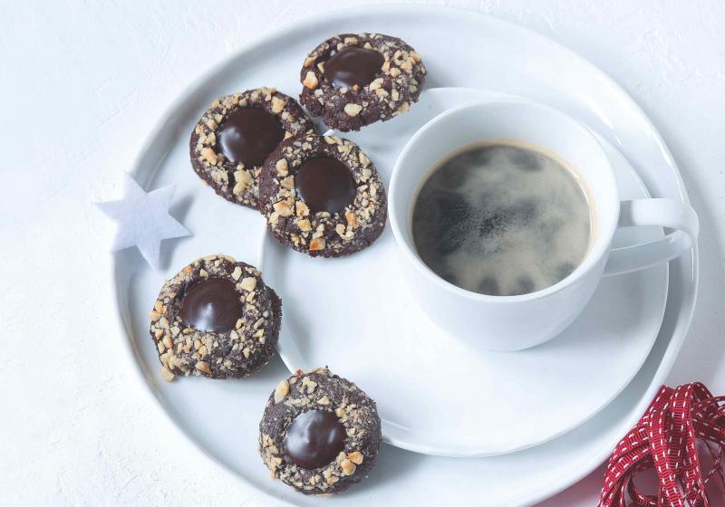 Čokoládové knoflíky s lískovými oříšky