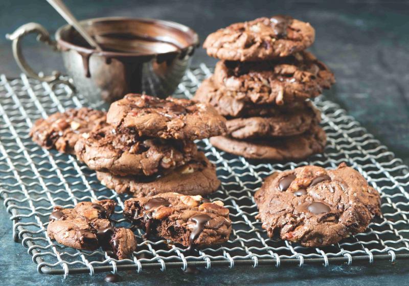 Čokoládové sušenky s pekanovými ořechy