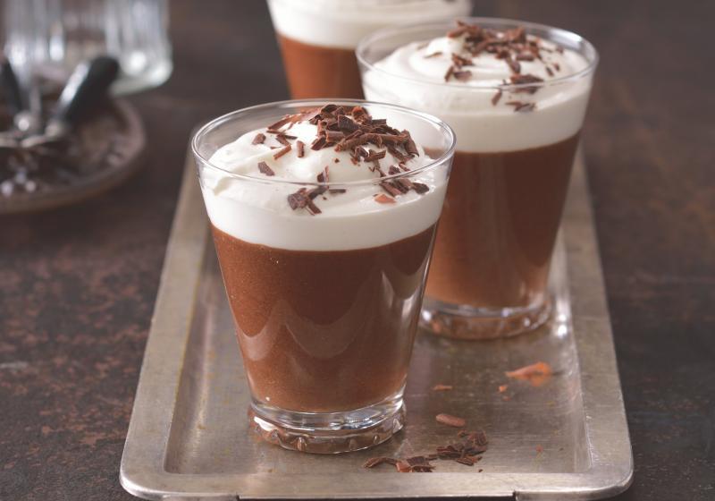 Čokoládové pohárky s irskou whiskey & baileys