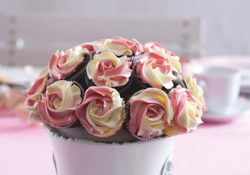 Sladká kytice cupcaků