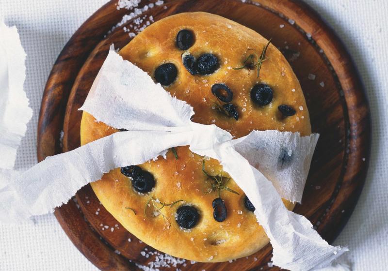 Italský chléb focaccia