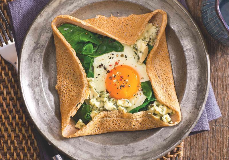 Galetky se špenátem a vejcem