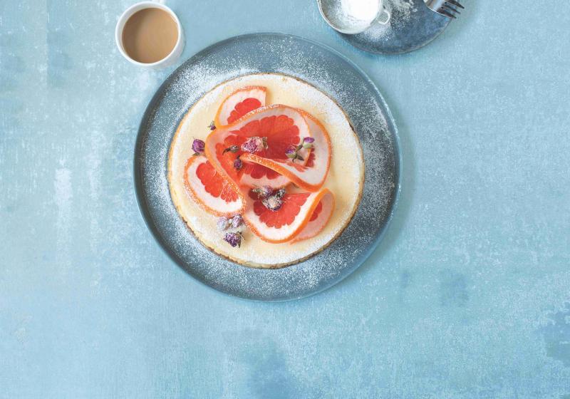 Grepovo-růžový cheesecake