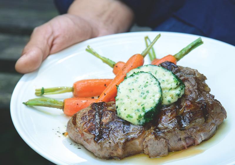 Grilovaný rib eye steak