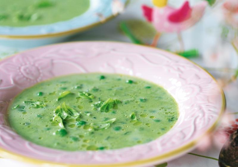 Jarní hrášková polévka