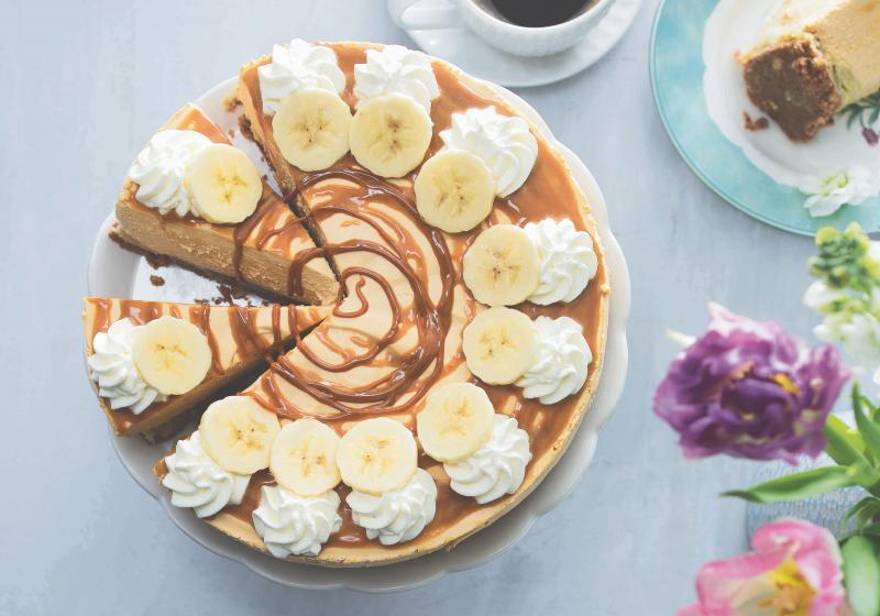 Karamelový cheesecake s banány