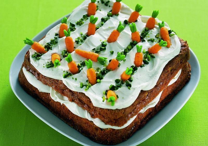 Velikonoční karotkový dort