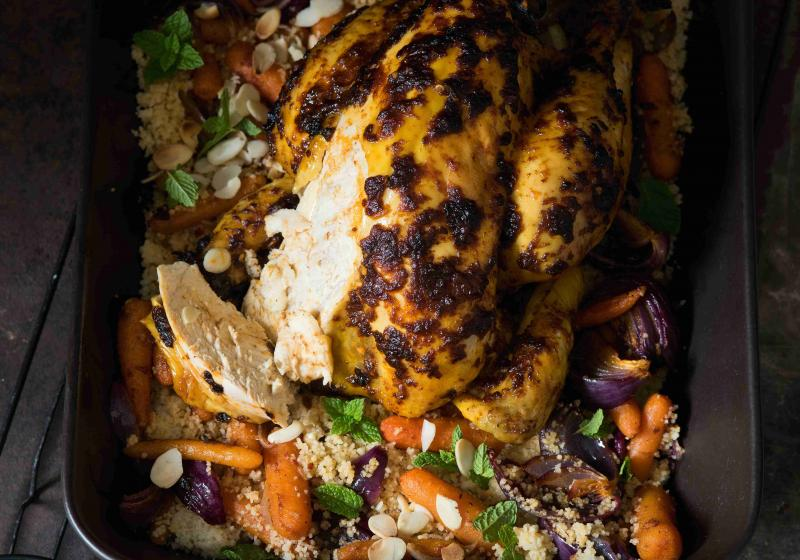 Kořeněné kuře s kuskusem