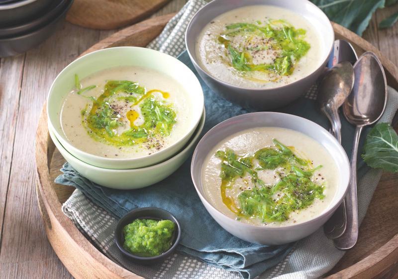 Krémová kedlubnová polévka