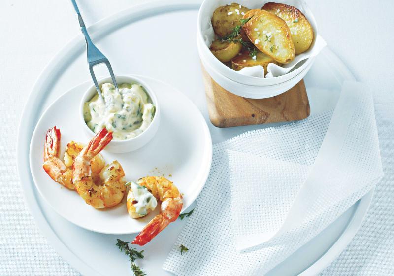 Krevety s olivovým aïoli