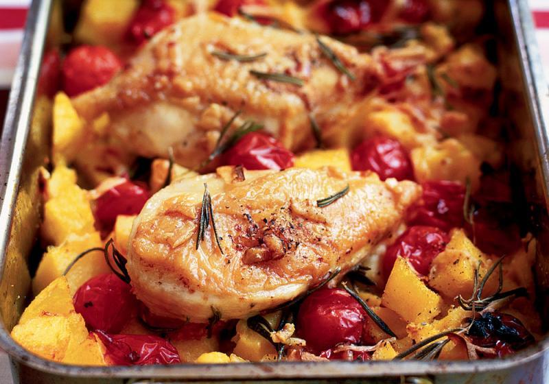 Křupavé italské kuřátko s polentou