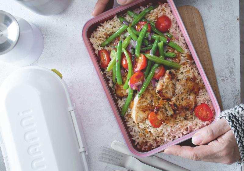 Krůtí maso s fazolkami a rýží