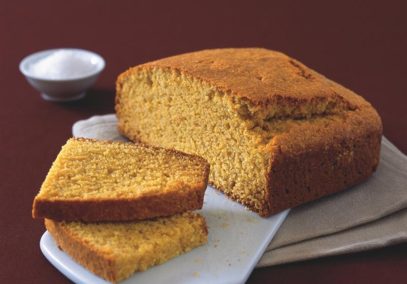Kukuřičný chléb s javorovým sirupem