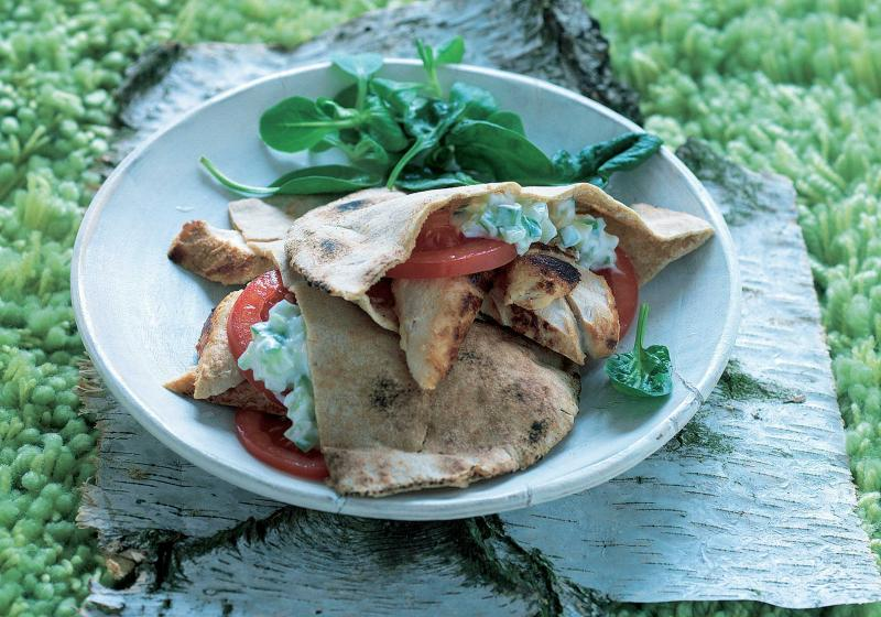 Kuřecí pita s tzatziki