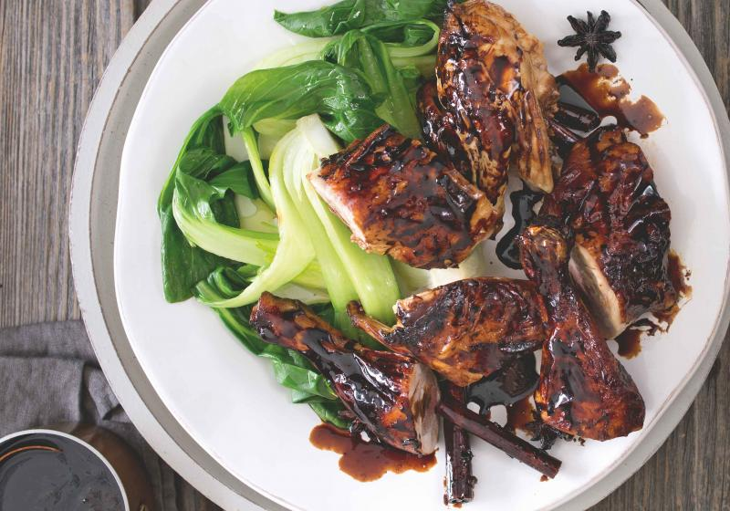 Lepkavé kuře se sójovou omáčkou a zázvorem