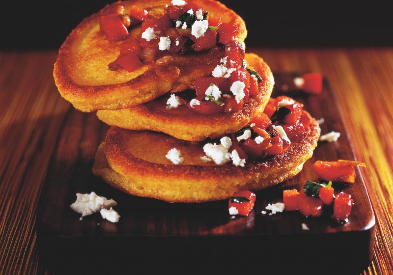 Mexické kukuřičné placičky a salsa