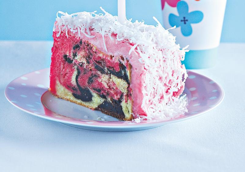 Mramorovaný dort